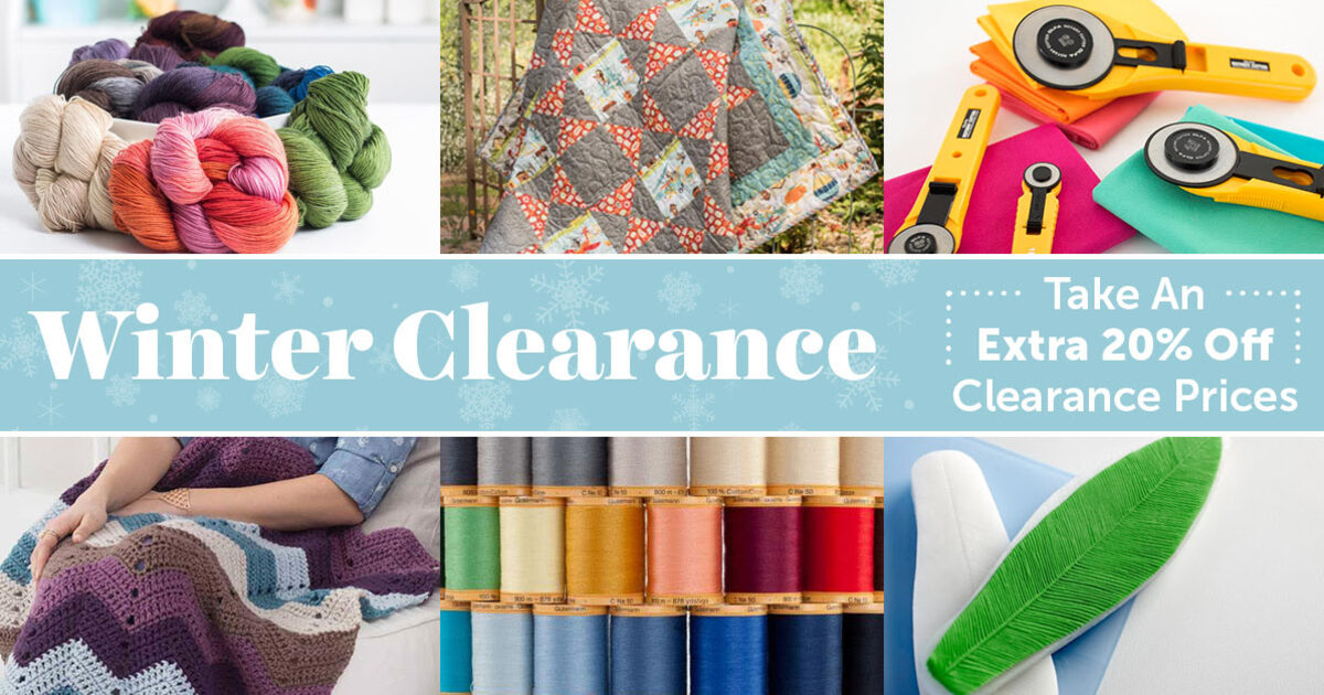 Craftsy winter clearance sale the craft chop for Clearance craft supplies sale